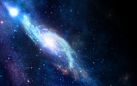 bulge: spiral galaxy in a dark space, abstract background