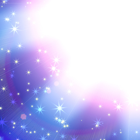 suns: suns rays on a blue sky with stars, abstract background