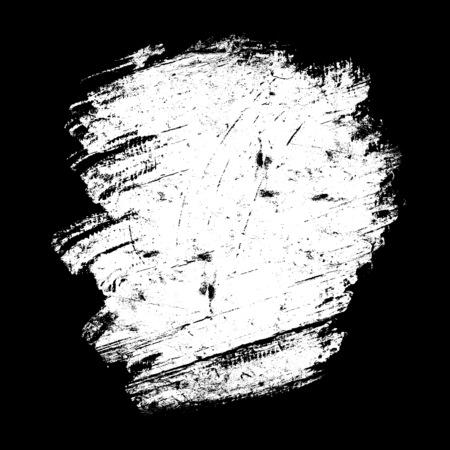 pix: white spot grunge, drawn with a brush on a black Stock Photo