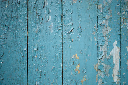 constructional: Closing on blue wooden panels of the fence Stock Photo