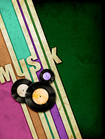 sonata: Grunge music bands on vintage paper