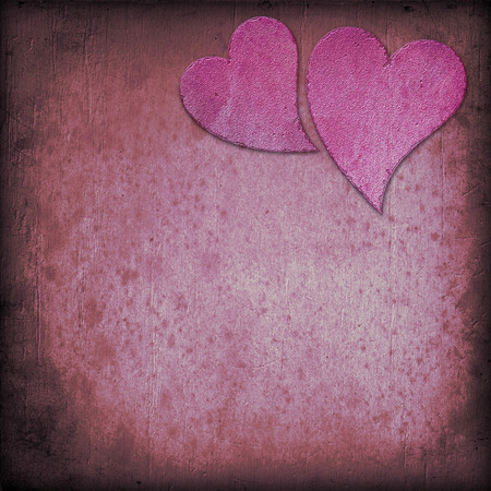 premise: Heart on Grange background, an abstract figure Stock Photo