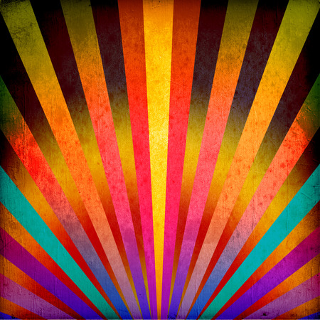 vintage paper texture: Multicolor Sunbeams grunge background. A vintage poster.