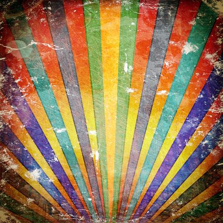 old paper background texture: Multicolor Sunbeams grunge background. A vintage poster.