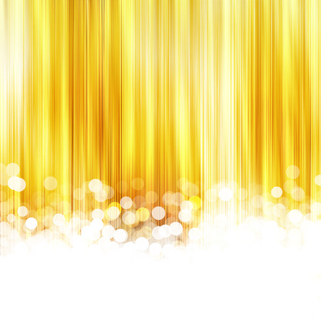 festivity: gold striped background with the lights blur, an abstraction