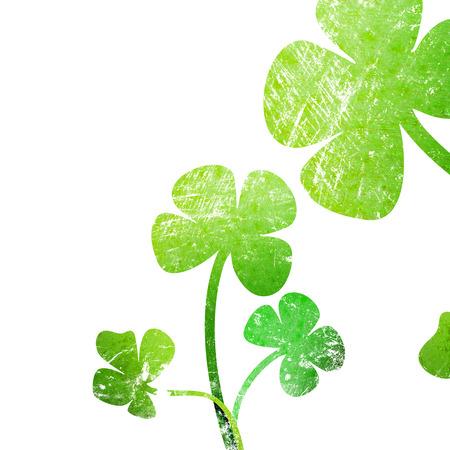 grunge leaf: grunge leaf clover on a white background