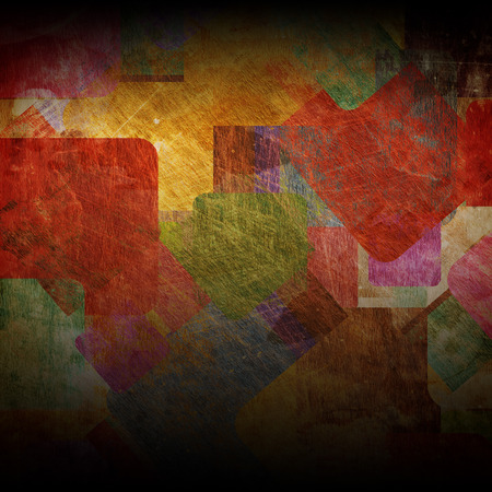 earthy: squares on the grunge wall, abstract background