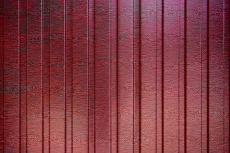 cargo container: The red corrugated metal walls, background, texture