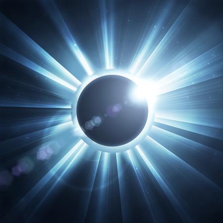 case: eclipse de sol en el negro, utilizado para el fondo