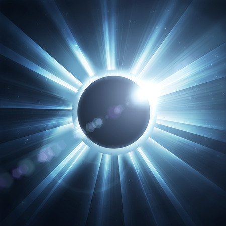 astrophysical: eclipse of the sun on the black, used for the background