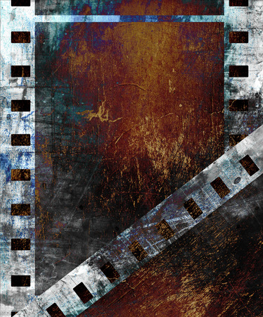 old photo: old film strip with some spots Stock Photo