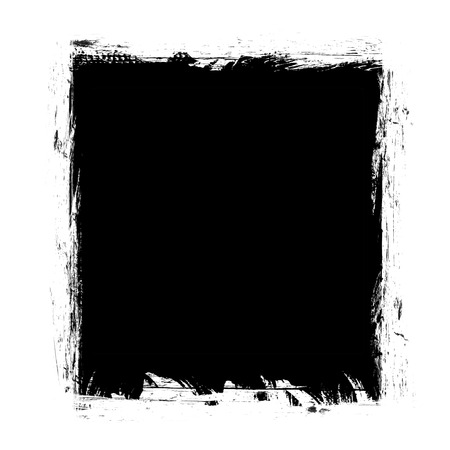 pix: black spot grunge, drawn with a brush on a white Stock Photo