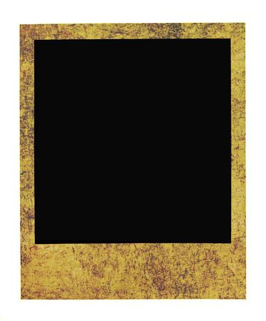 Blank photo frame isolated on white background photo