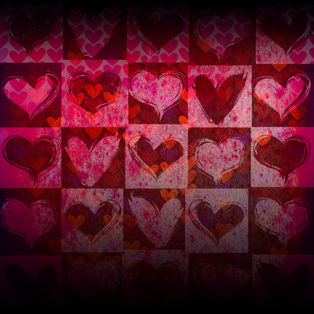 Heart on Grange background, an abstract figure Stock Photo