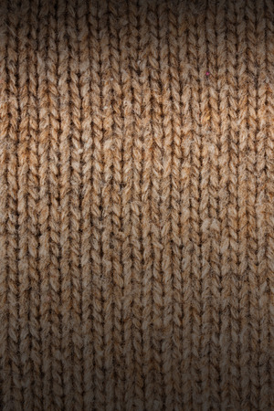 plain stitch: Knitted wool fabric texture close-up Stock Photo