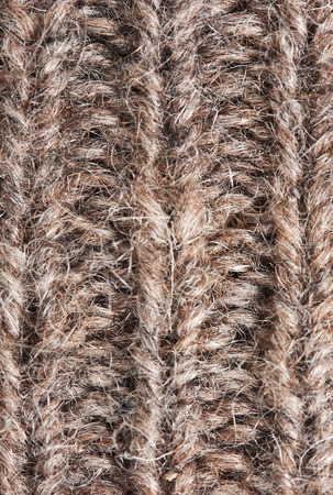 magnetite: loop of knitted woolen threads close up, background Stock Photo