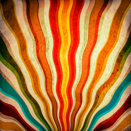 vintage backgrounds: Multicolor Sunbeams grunge background. A vintage poster.