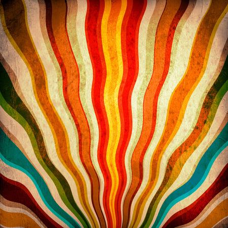 concerto rock: Multicolor Sunbeams grunge. Un cartel del vintage.