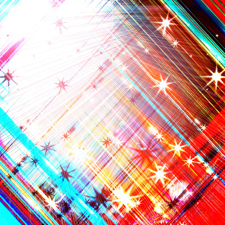 whirling: Glittering stars blurred colorful background