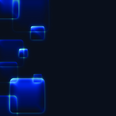 precise: abstract blue background of glossy squares