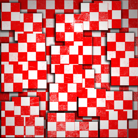 grunge red checkered, abstract  background photo