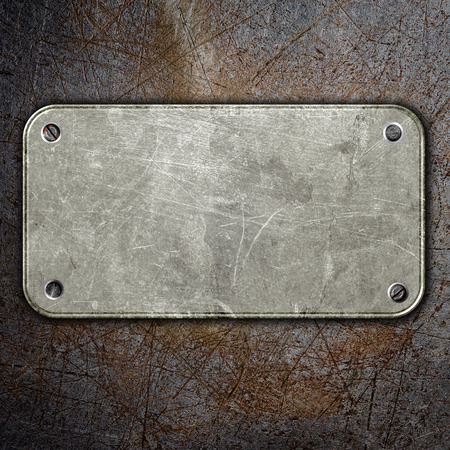 metal sign: grunge metal plate abstract background