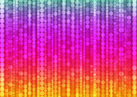 disco club: strips of shiny colored circles, abstract background