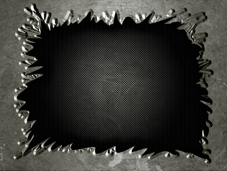 torn metal: torn grunge metal with mesh, abstract background