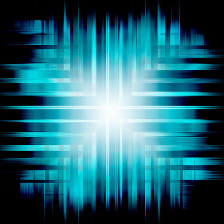 luminescent: abstract blue background of luminescent lines
