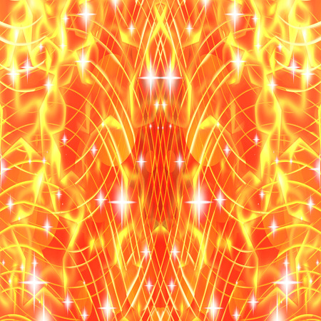 luminescence: abstract glowing stripes stars on a dark background Stock Photo