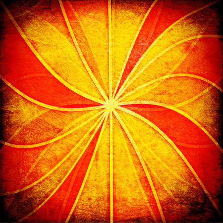 suns: vintage abstract suns rays on the wall grunge Stock Photo