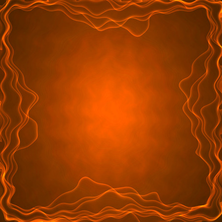 heart burn: frame of the burning elements, abstract background Stock Photo