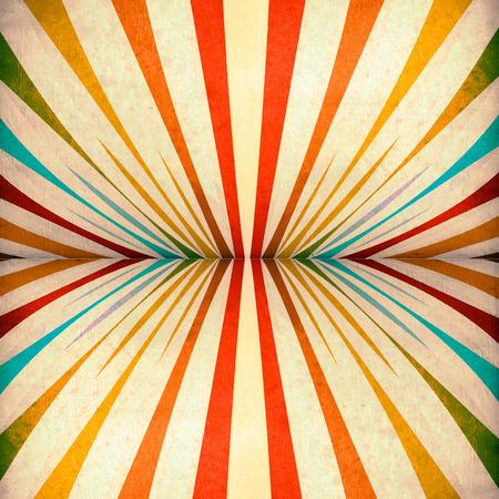 vintage background paper: Multicolor Sunbeams grunge background. A vintage poster.