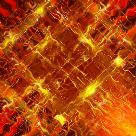whirling: Glittering stars blurred yellow and red background Stock Photo