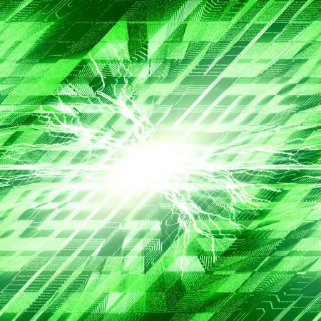 multilayer: abstract green urbanism luminous background