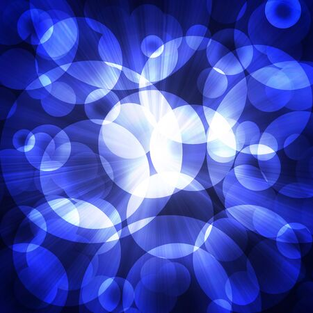 abstract blue circles on a dark background
