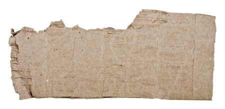 rough piece of cardboard, isolated on white