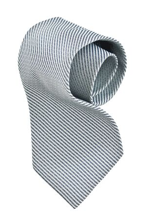 roll of gray tie, pinstriped, with clipping paths