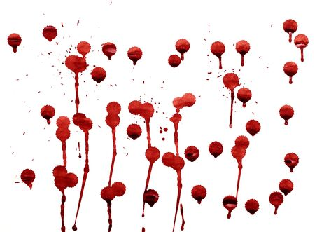 splashes of blood red splattered watercolor