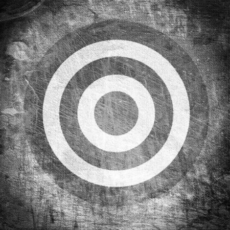vintage target painted on the dirty old tissue Stockfoto