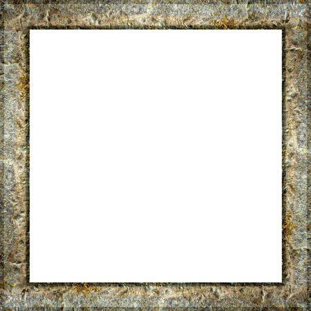 Steel metal frame isolated on white background Reklamní fotografie