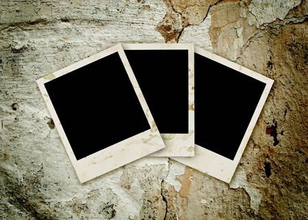 Three empty grunge frame for your photo