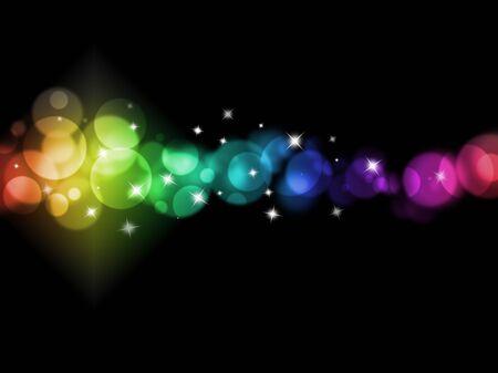 fond d'éclairage de vacances de lumières colorées floues