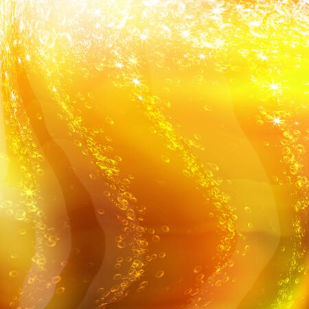 bubbles in a glass of champagne, romantic background Standard-Bild