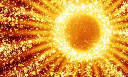shining circle of stars on a dark, abstract background 免版税图像