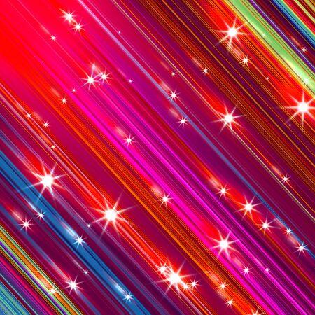 Glittering stars blurred colorful background