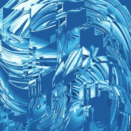 abstract background of blue glass squares 免版税图像