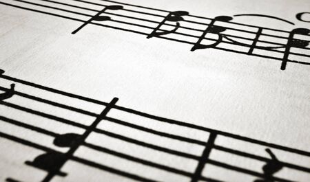 fragment of musical notation, with the effect of lighting