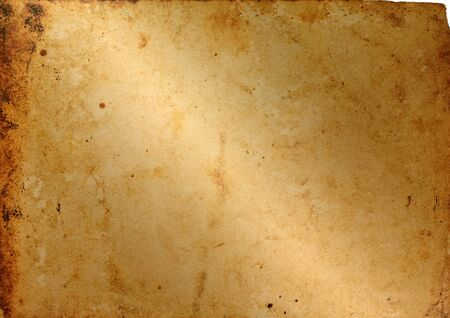 old paper Horizontal  isolated on a white background Banco de Imagens