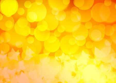 abstract golden background of the bright lights and star Banco de Imagens